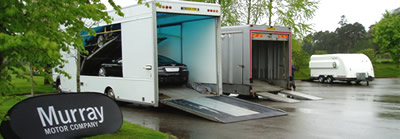 Car Storage Scotland on hand with our purpose built fully enclosed transporters.